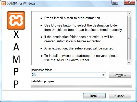 Instalación Xampp en Windows Paso 1