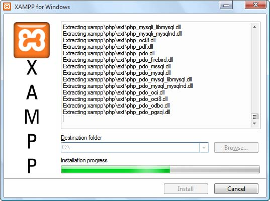 Instalación Xampp en Windows Paso 2