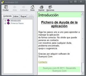 Ayuda Archivator 2.0