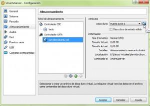 UnuntuServer - Configuración VirtualBox